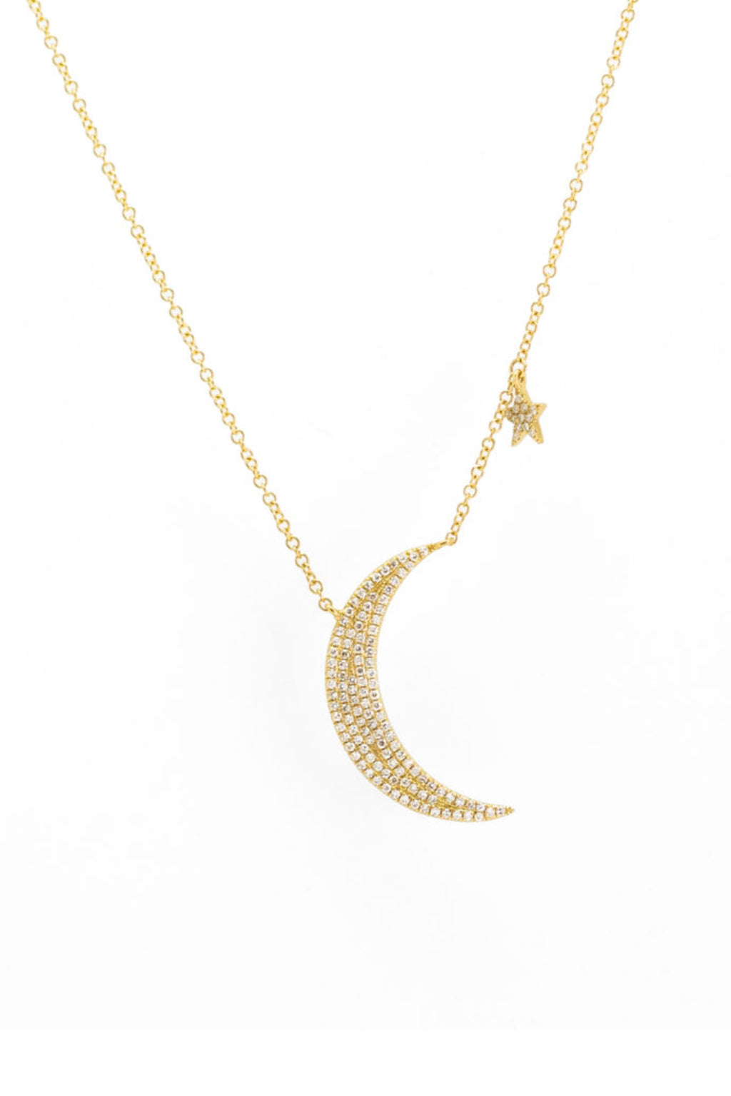 Pade Vavra 14K Yellow Gold Diamond Moon And Star Necklace