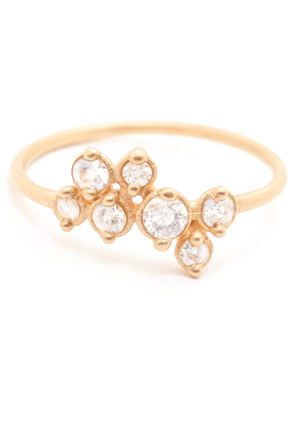 Valley Rose 14K Gold Andromeda Ring in White Sapphire