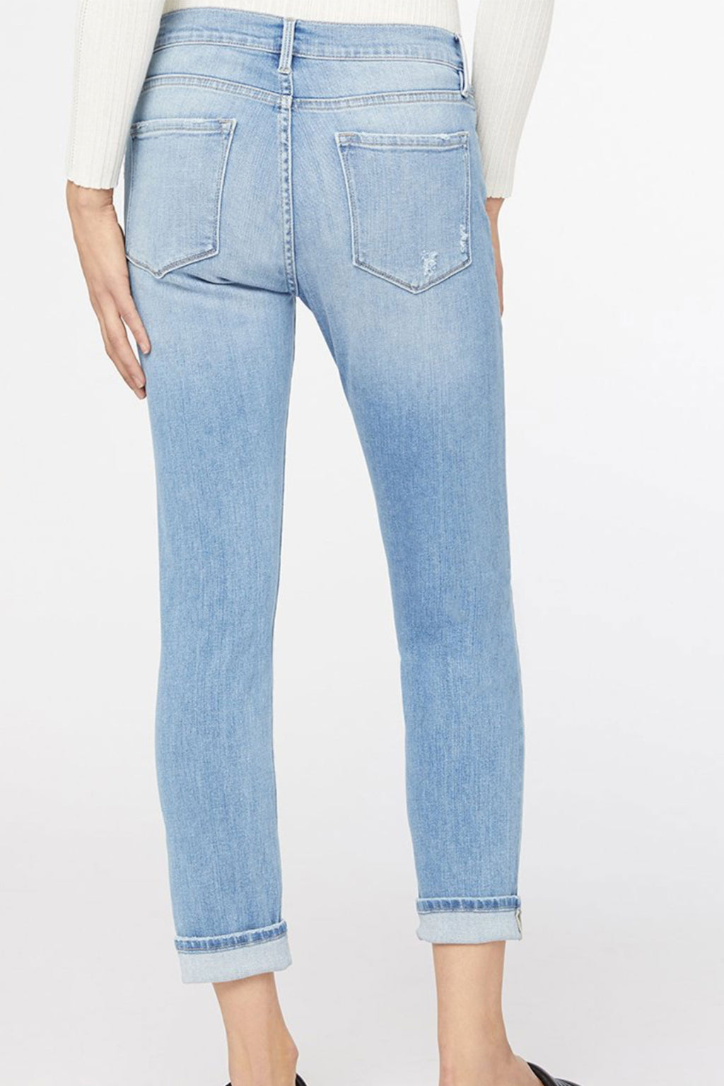 Frame Le Garcon Mid-Rise Straight Denim in Overturn