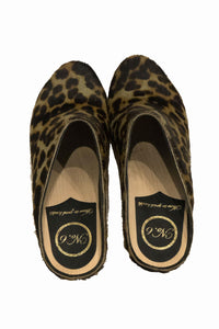 No.6 New School Clog in Camo Leopard Pony