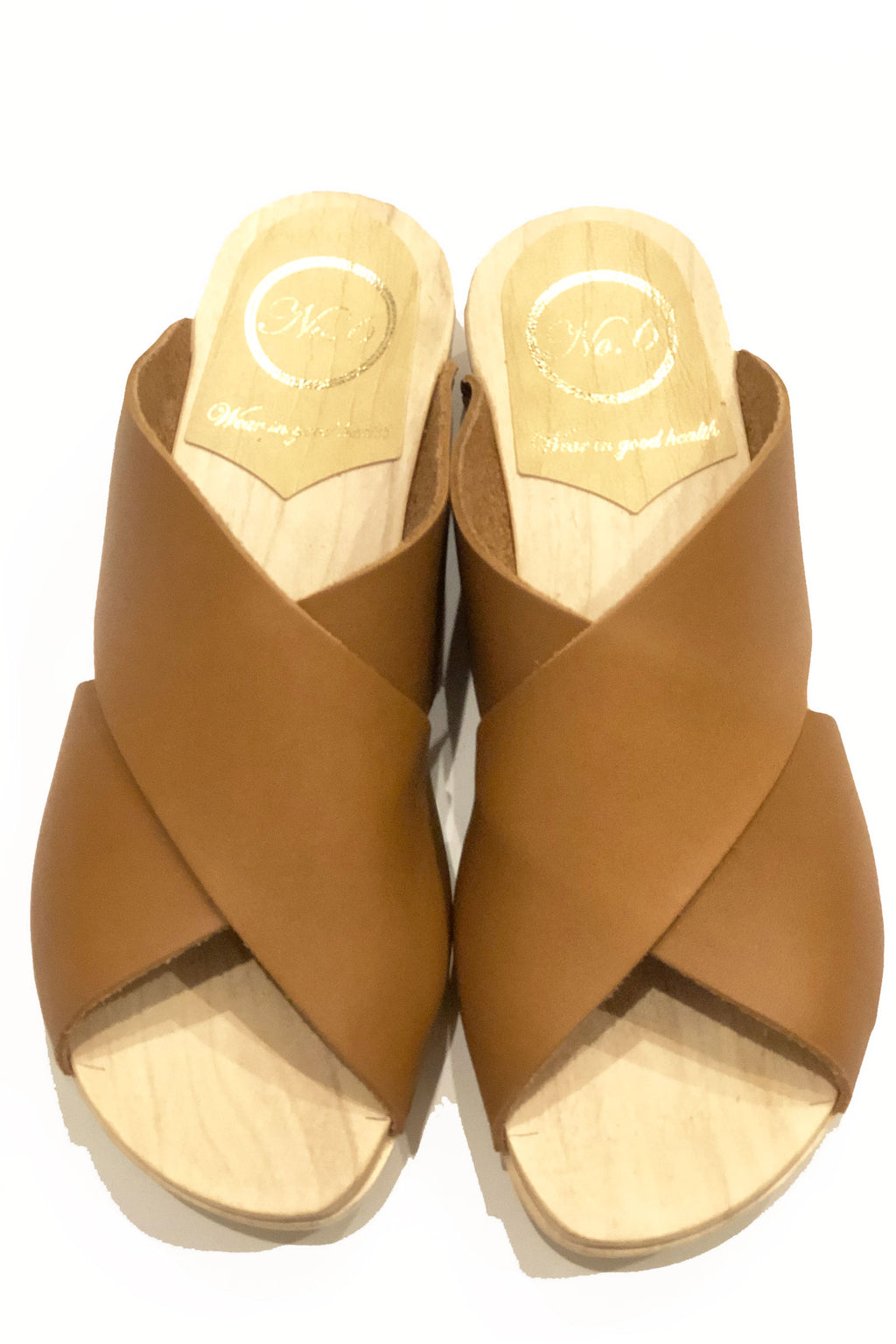 NO.6 Frida Clog Flat in Palomino