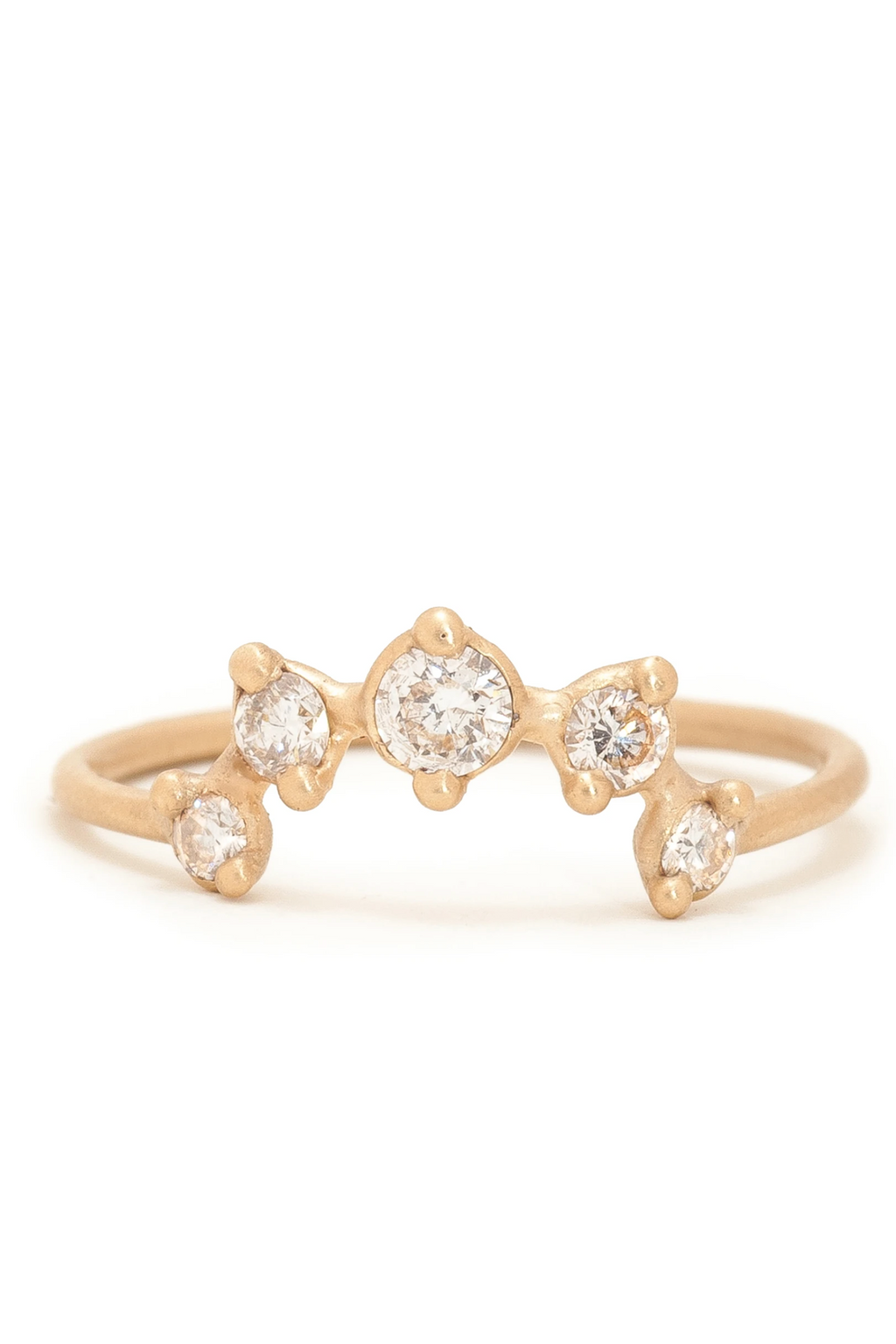Valley Rose Clio Ring in Ground Diamonds