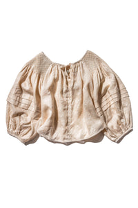 Innika Choo Oliver Daily Smock Top in Biscuit