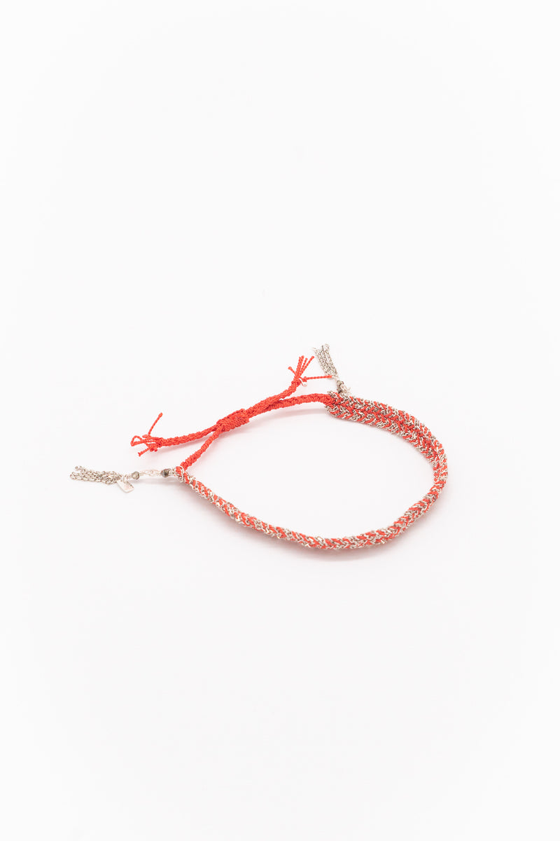 Marie Laure Chamorel Plaited Bracelet in Silver Corail