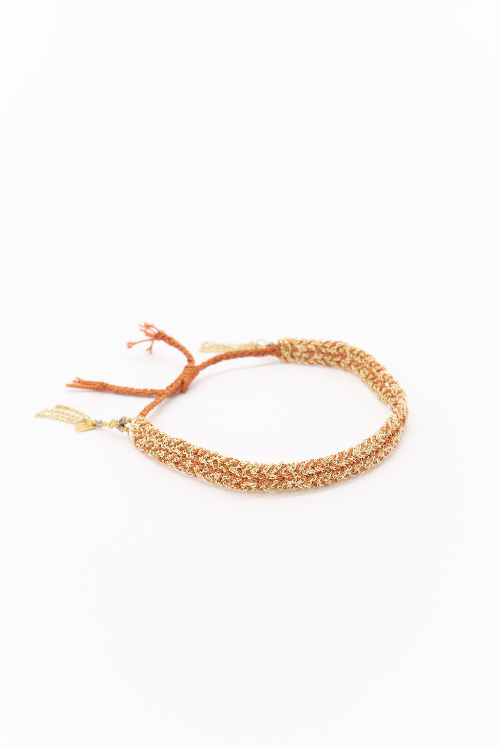 Marie Laure Chamorel Plaited Bracelet in Gold Caramel