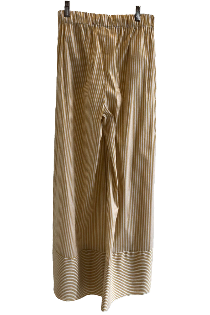 Loup Charmant Olympia Palazzo Pant in Wheat Stripe