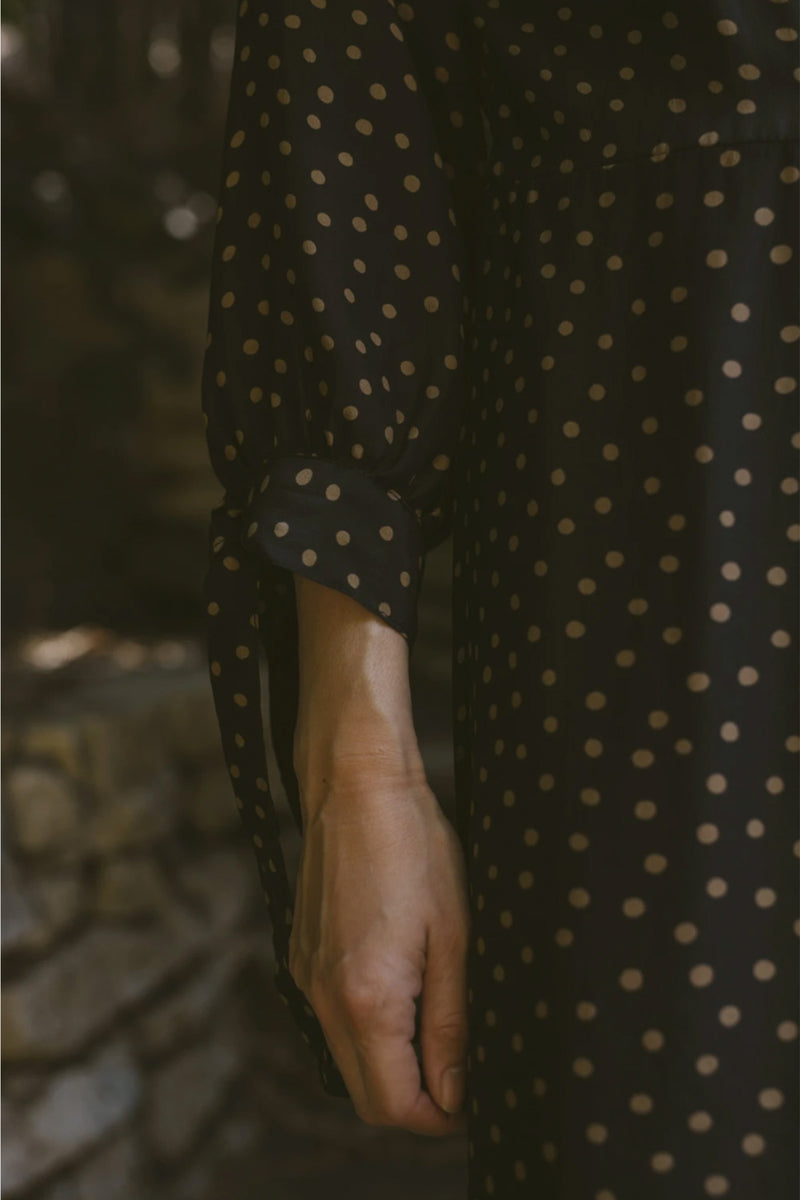 Natalie Martin Danika Dress in Polka Dot Black