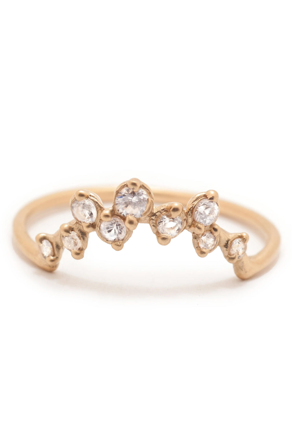 Valley Rose 14K Gold Milky Way Ring in White Sapphire
