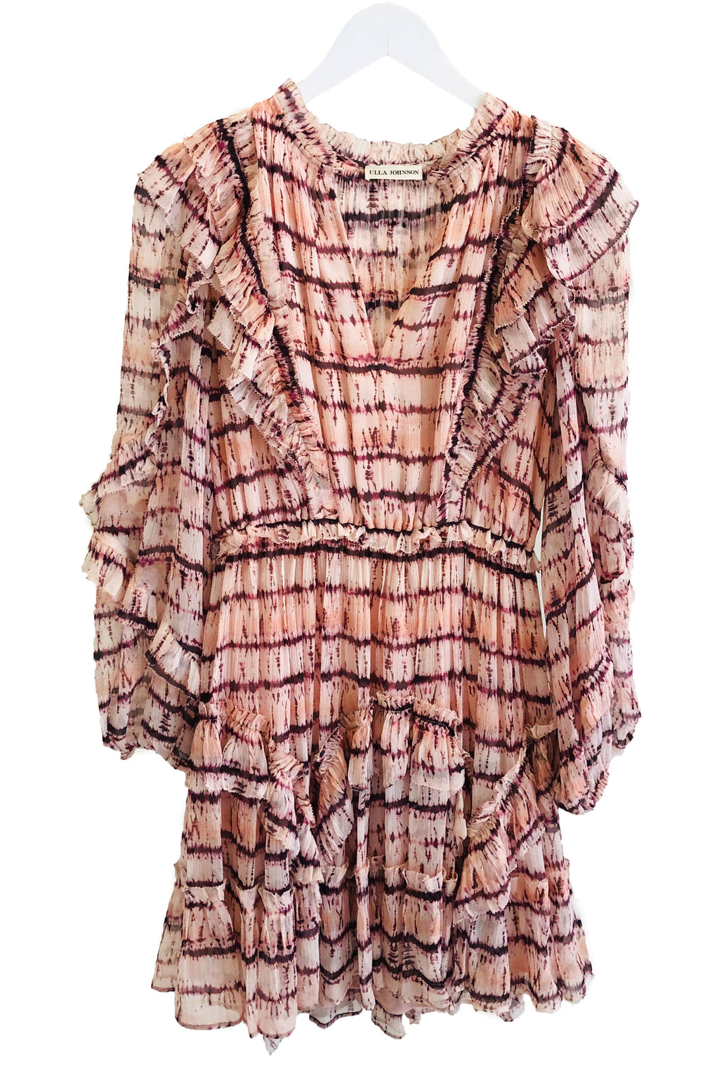 Ulla Johnson Aberdeen Dress in Blush Tie Dye