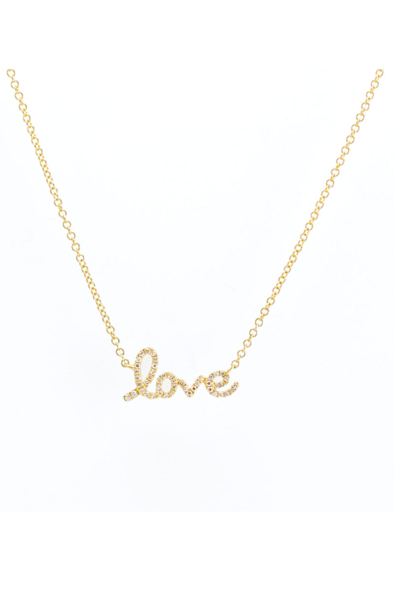 Pade Vavra 14K Gold Diamond Love Necklace