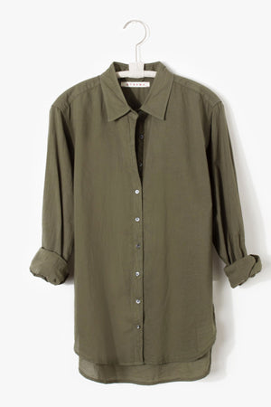 Xirena Beau Shirt in Bottle Green