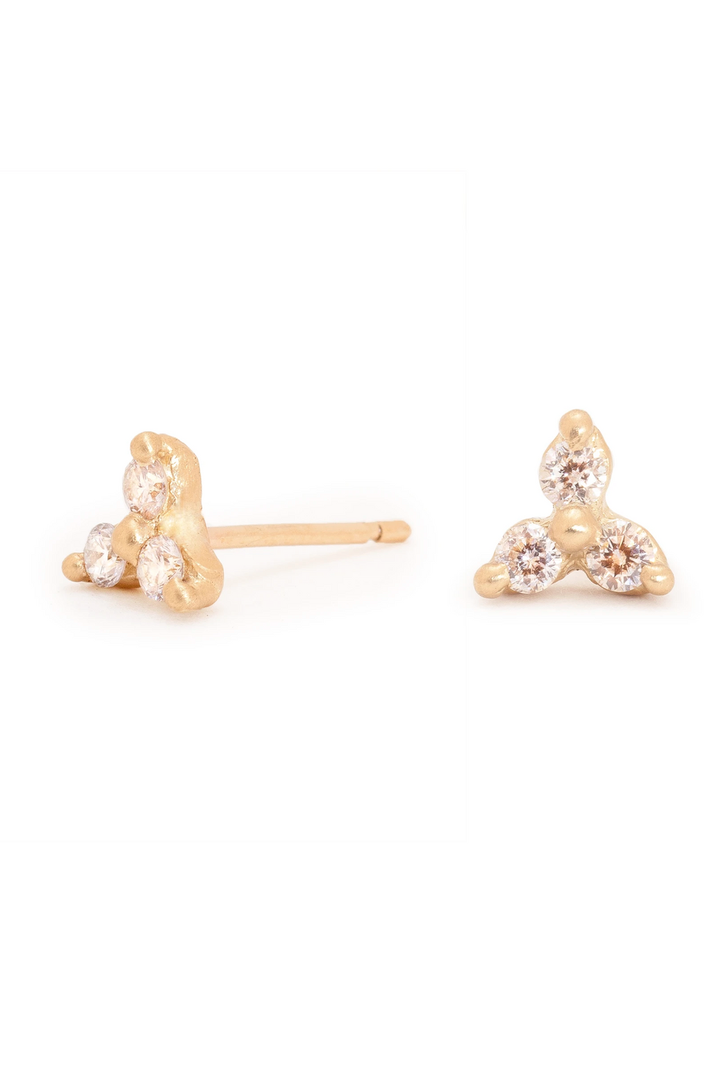 Valley Rose Altair Earrings in Ground Diamonds