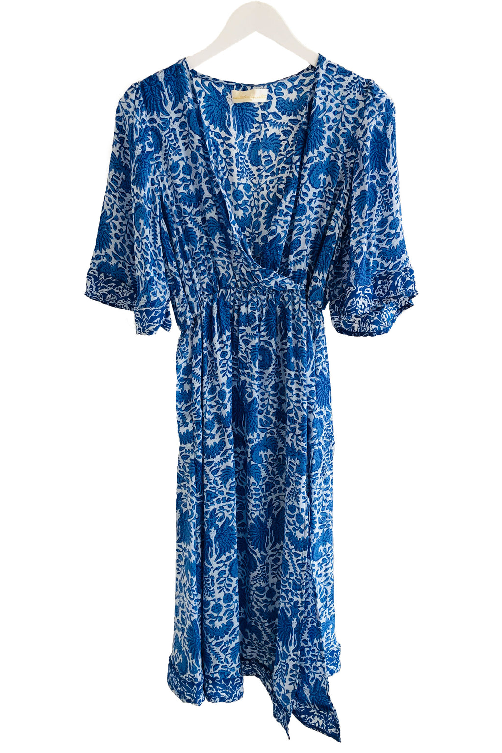 Natalie Martin Coco Dress in Wing Print Corfu Blue