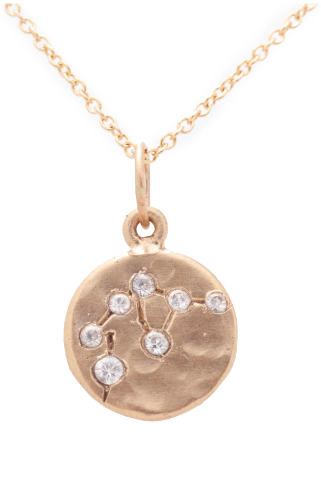 Valley Rose Aquarius Constellation Necklace in White Sapphire