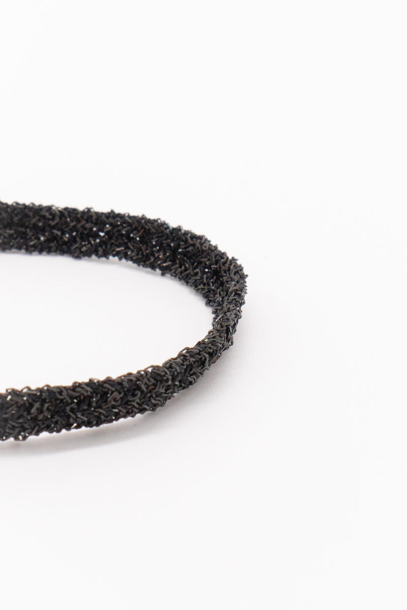 Marie Laure Chamorel Plaited Bracelet in Black Silver