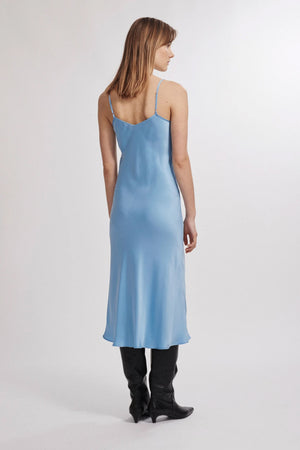 Silk Laundry 90s Silk Slip in Airy Blue