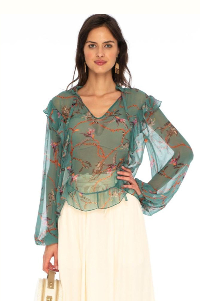 Caballero Mila Blouse In Monkey Business