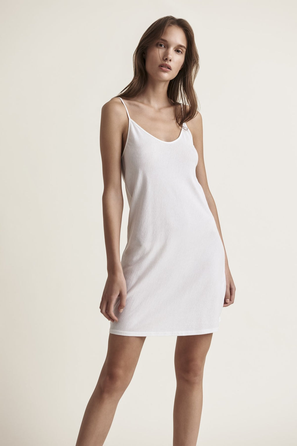 Skin Sexy Pima Cotton Slip in White