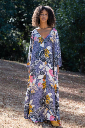 Atta Maxi Paris Garden 100% Silk Dress