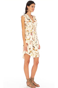 Caballero Rosi Dress In Mustard Protea Flowers