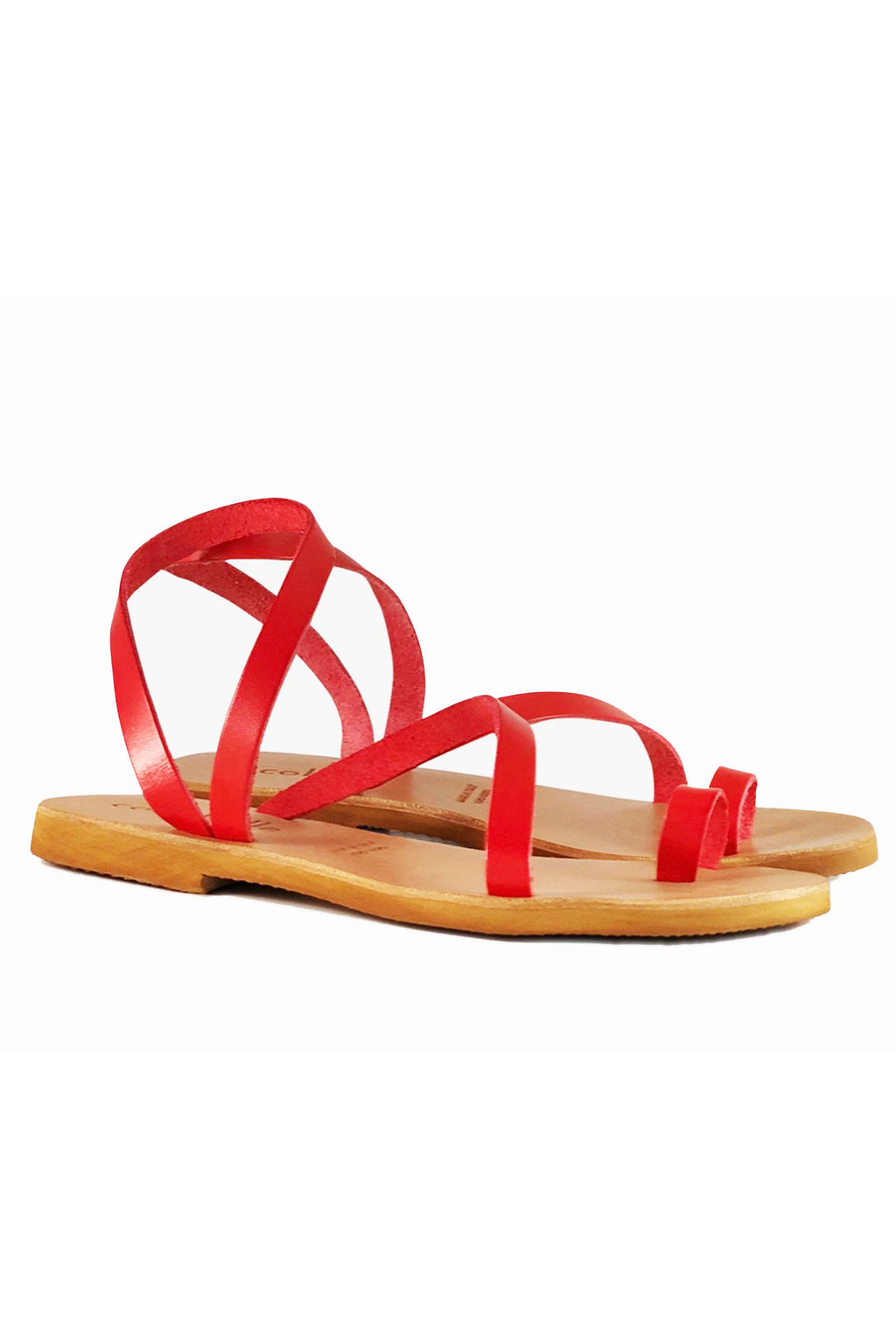 Cocobelle Crescent Sandal in Coral