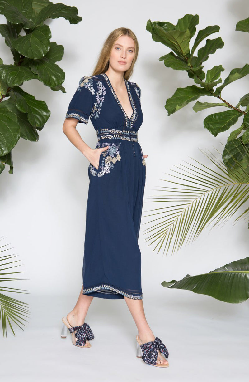 Caballero Karoo Jumpsuit in Midnight Navy
