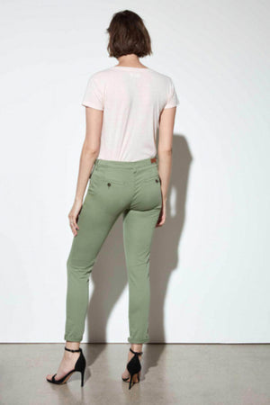 Reiko Sandy 2 Basic Chinos in Green Tea