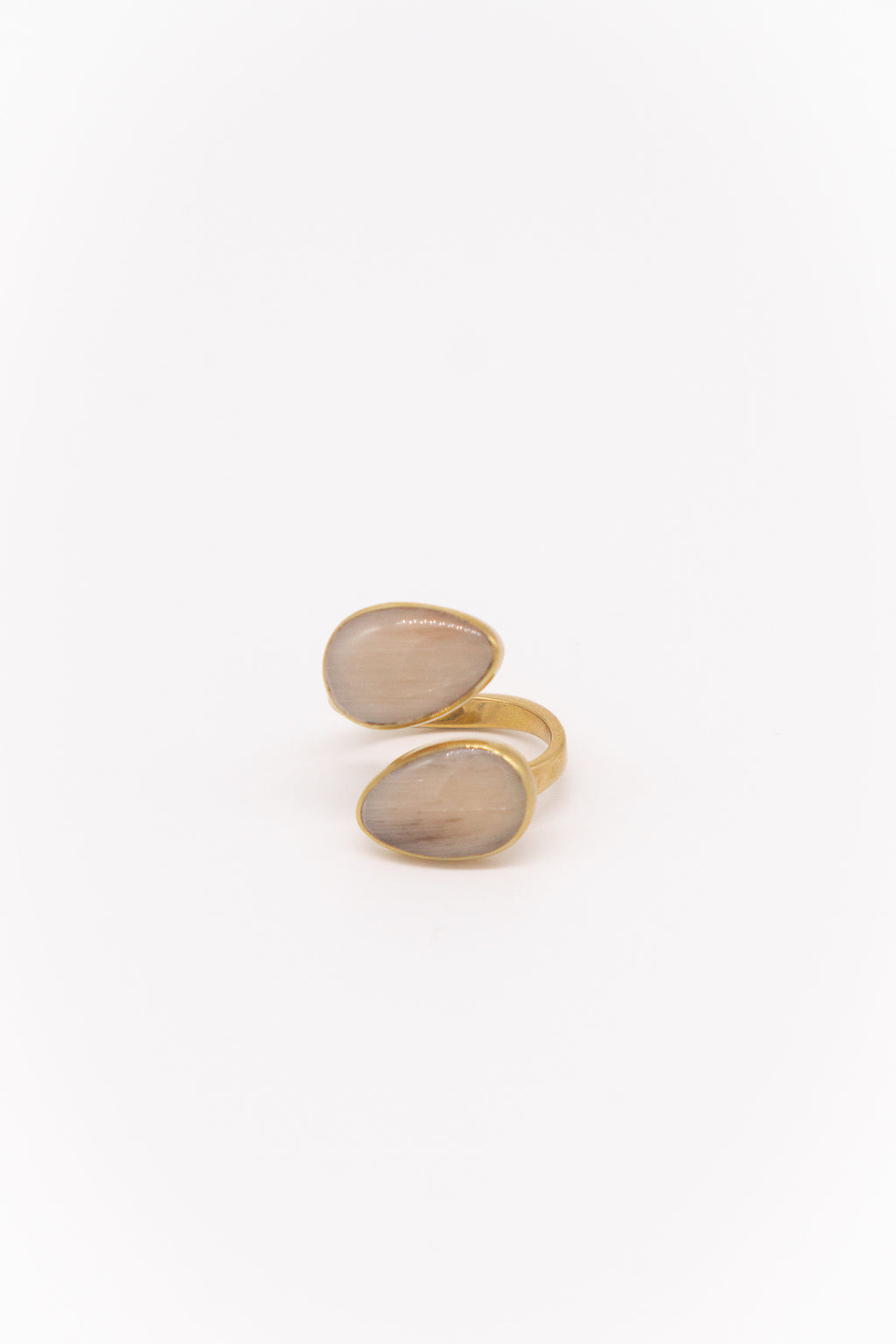 Soko Indra Horn Statement Ring in Brass in Natural Horn