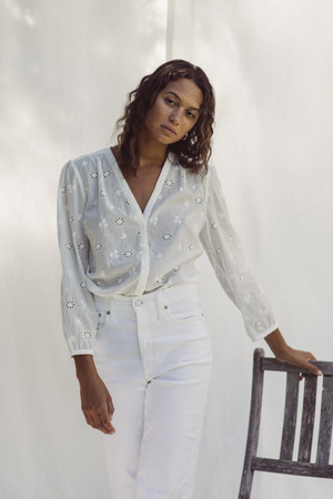 Trovata Shelli Blouse in White Embroidery