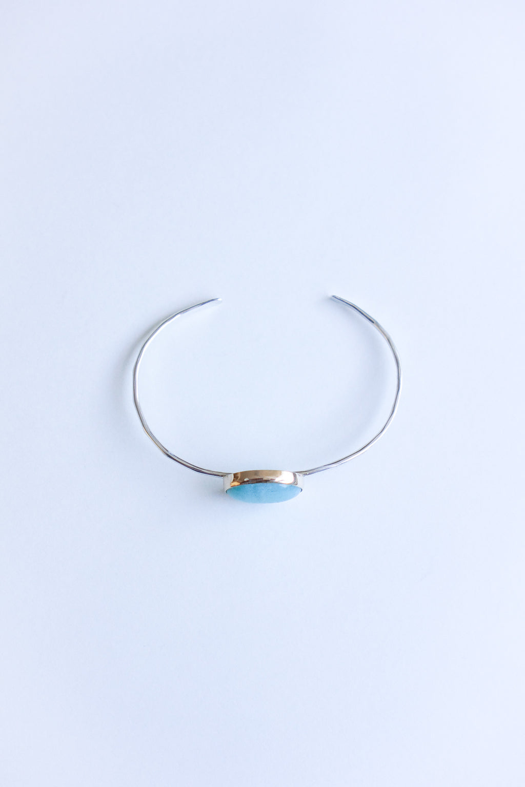 Melissa Joy Manning 14K Yellow Gold and Sterling Silver Amazonite Cuff Bracelet