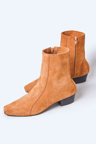 Rachel Comey Suede Cove Ankle Boots in Whiskey