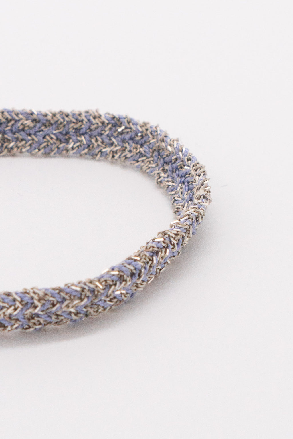 Marie Laure Chamorel Plaited Bracelet in Silver Lila