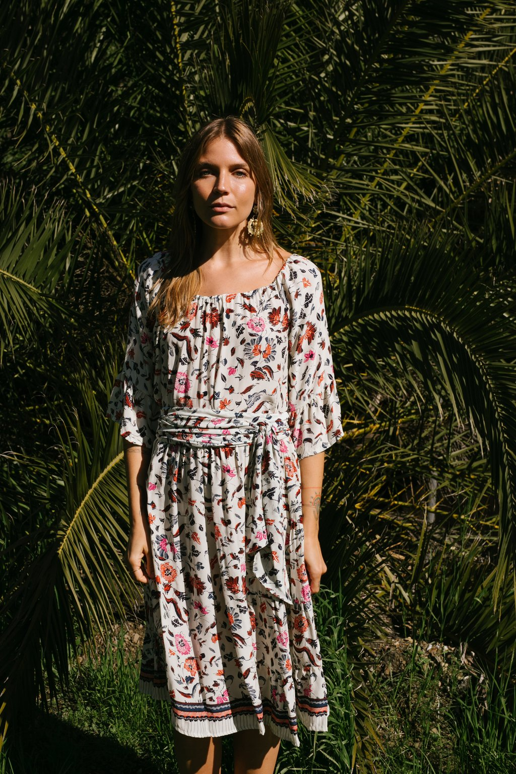 Natalie Martin Mesa Dress In Wildflower Pearl