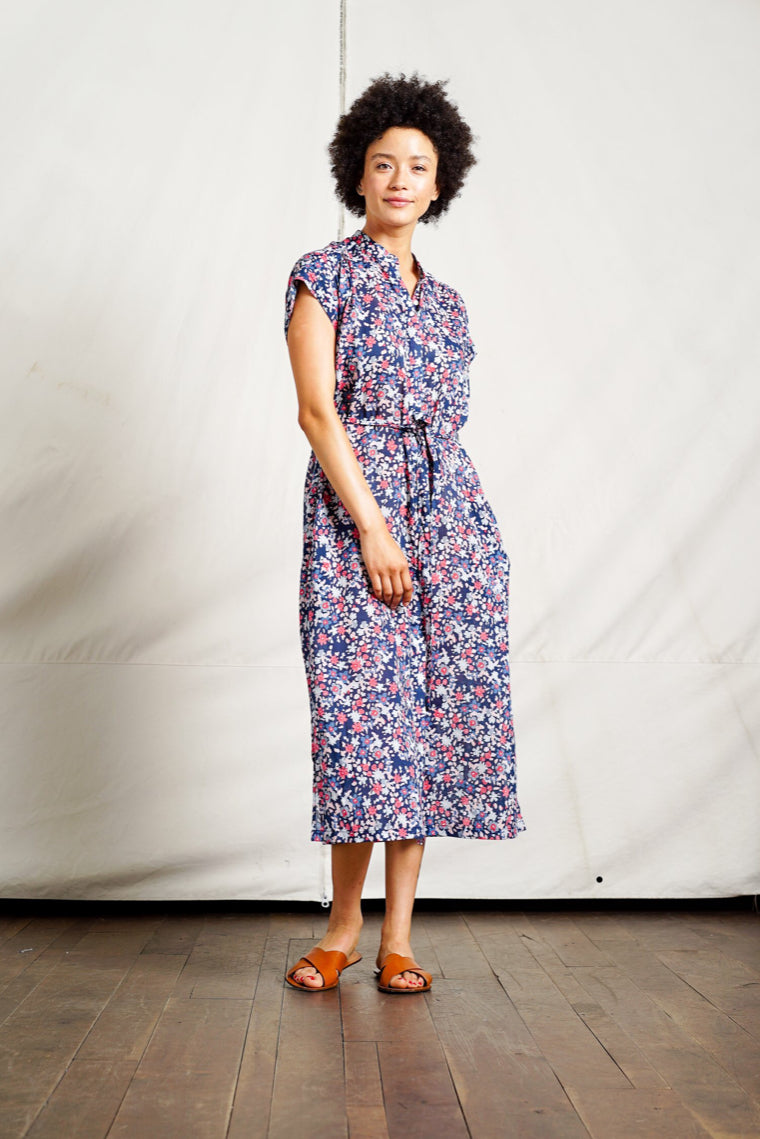 Trovata Astrid Easy Dress in Navy Floral