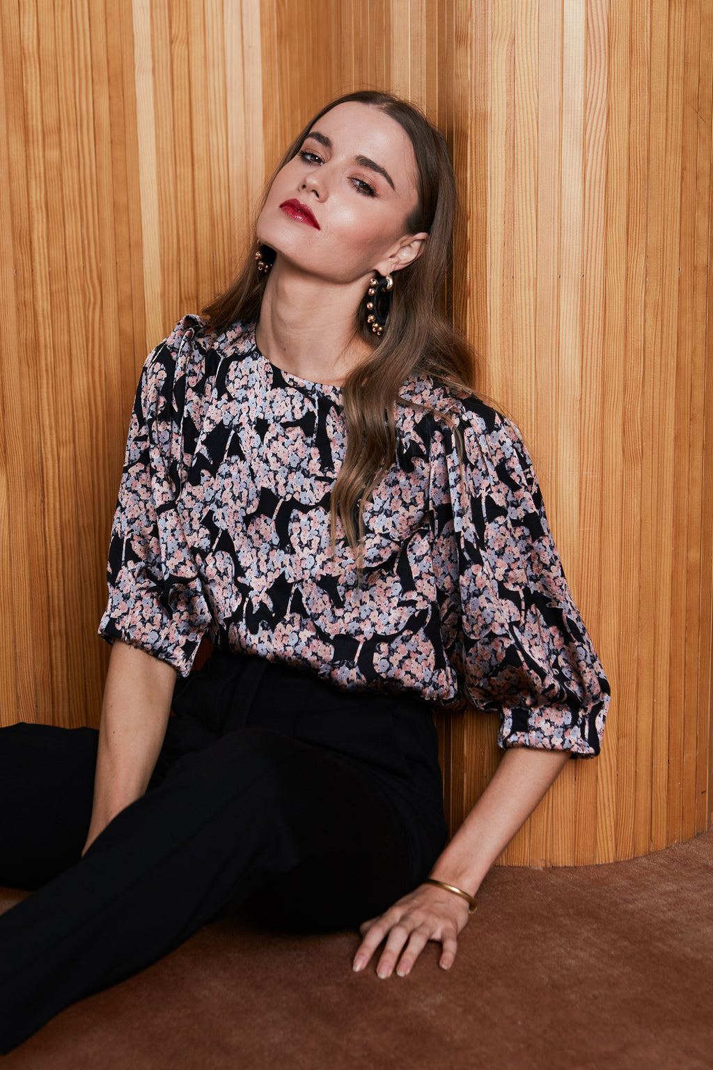 Caballero Ana Top in Floral Burnout