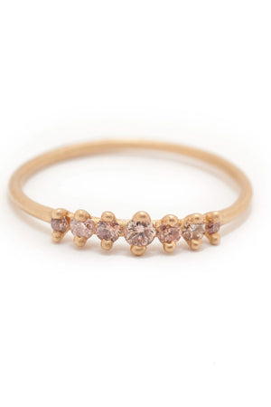 Valley Rose Mini Meissa Ring in Rose Diamonds