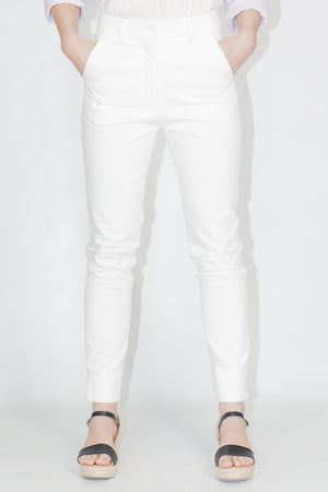 Apiece Apart Camilla Pant in White and Navy