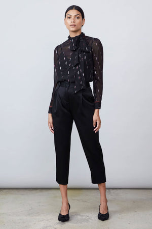 Allen Schwartz Serafina Blouse with Cami Liner in Black