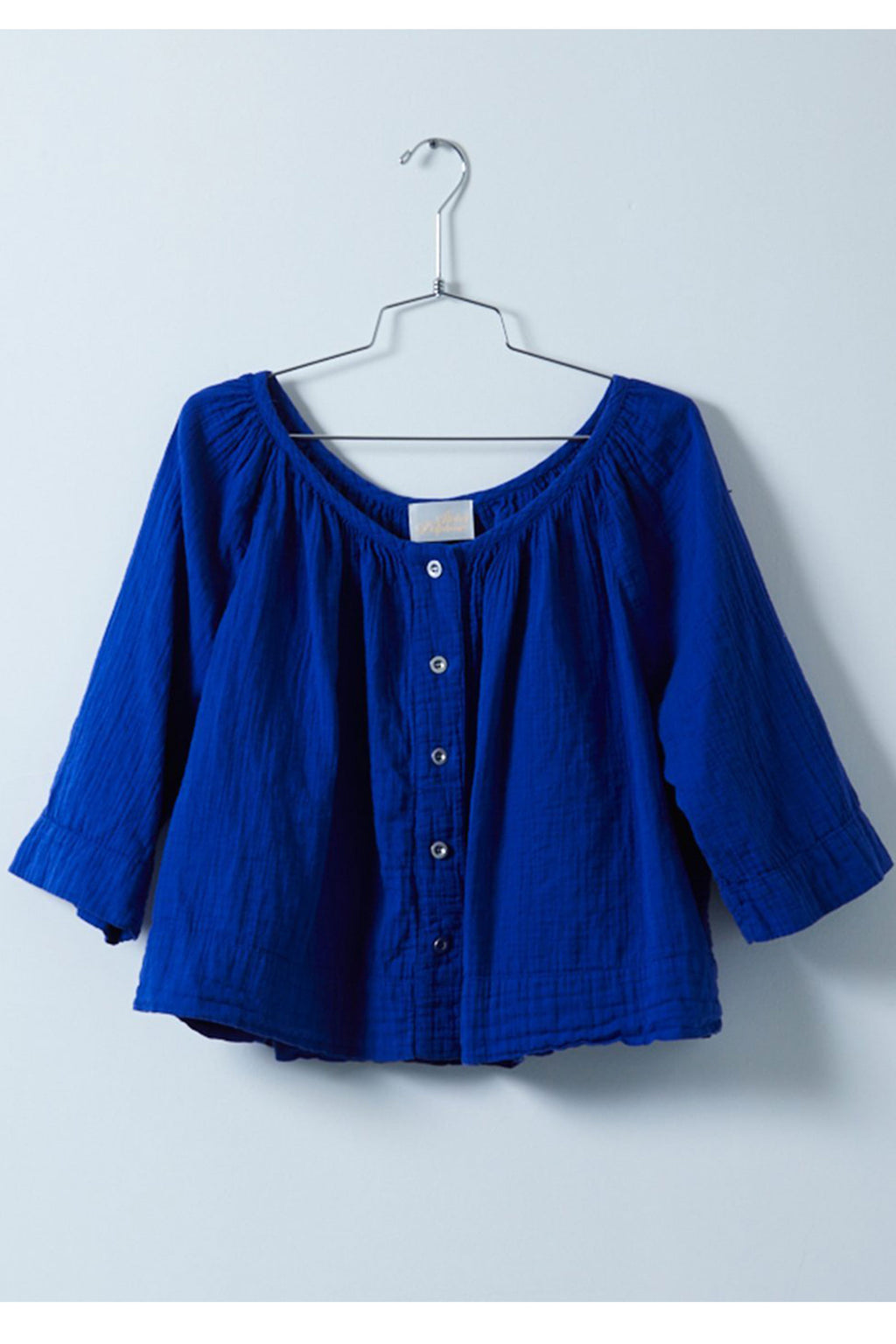 Atelier Delphine Millie Top in Majorelle Blue