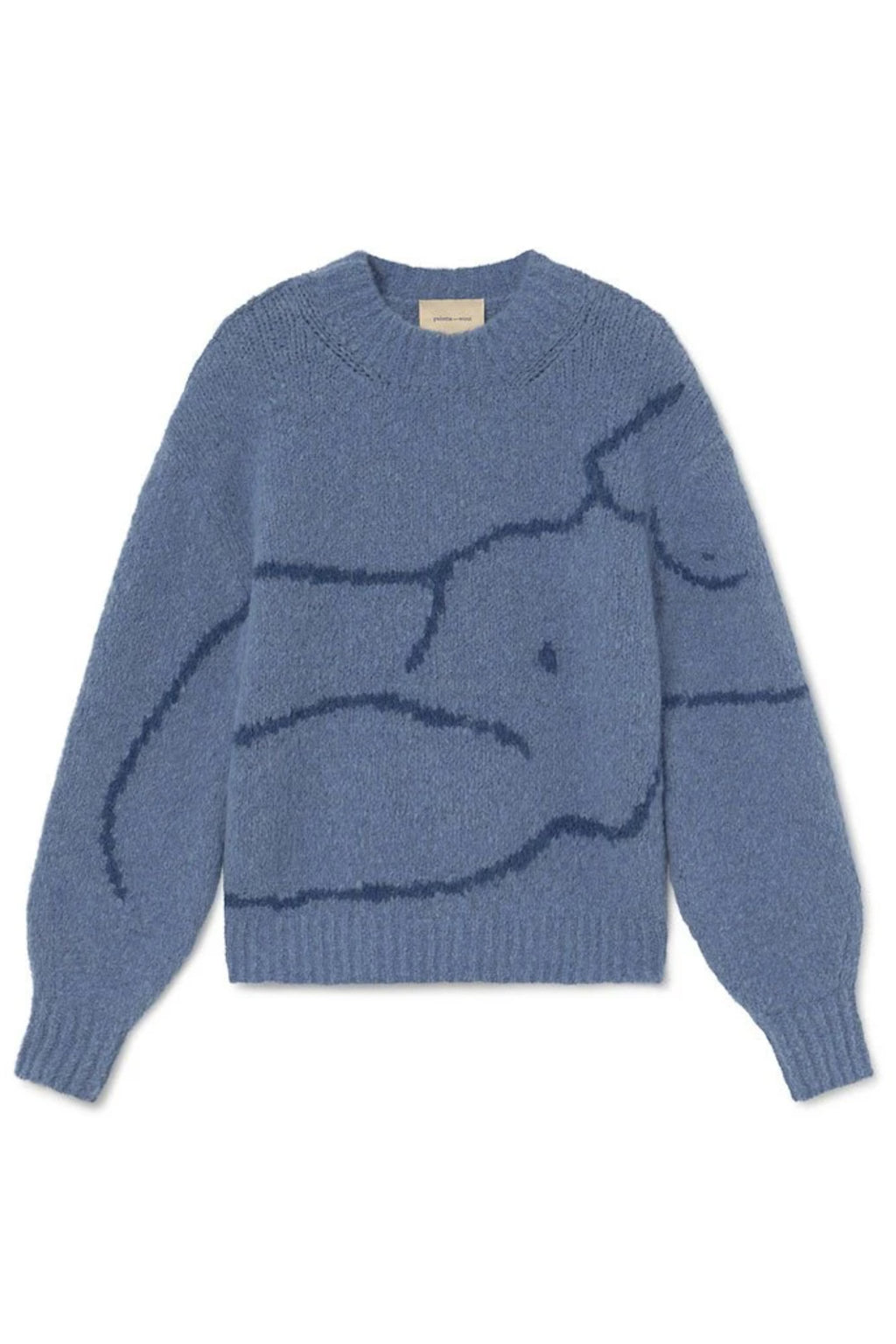Paloma Wool palmira Fitted Sweater With Figure in Blue