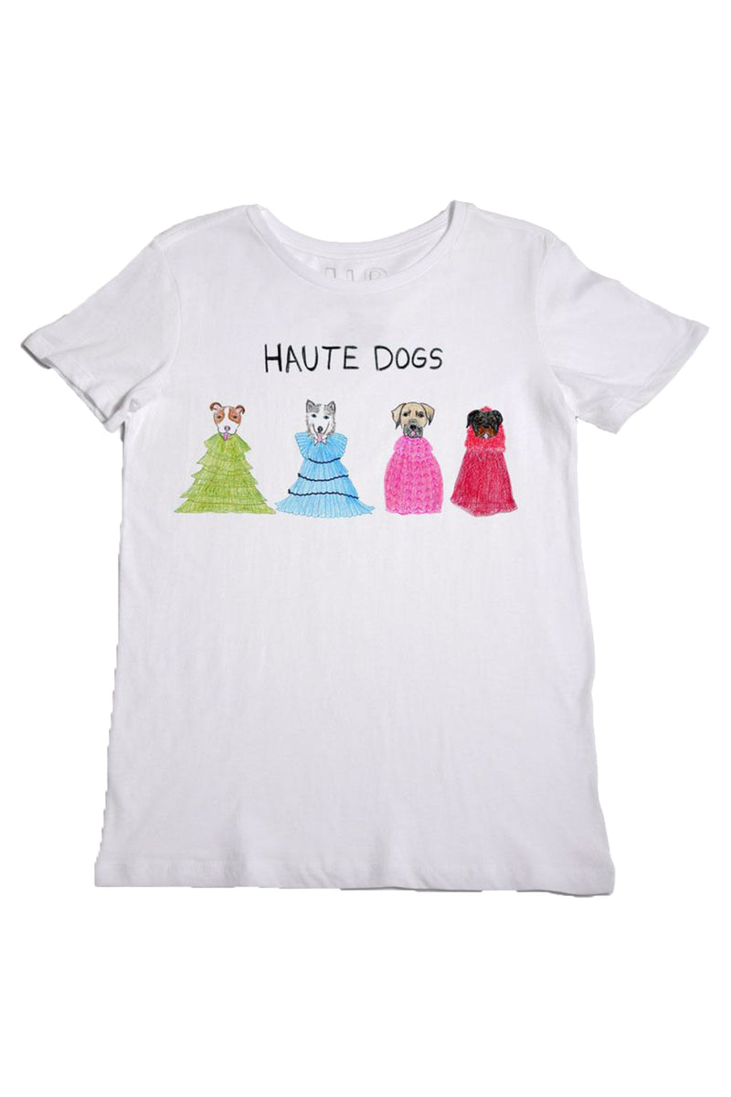 "Unfortunate Portrait ""Haute Dogs"" in White"