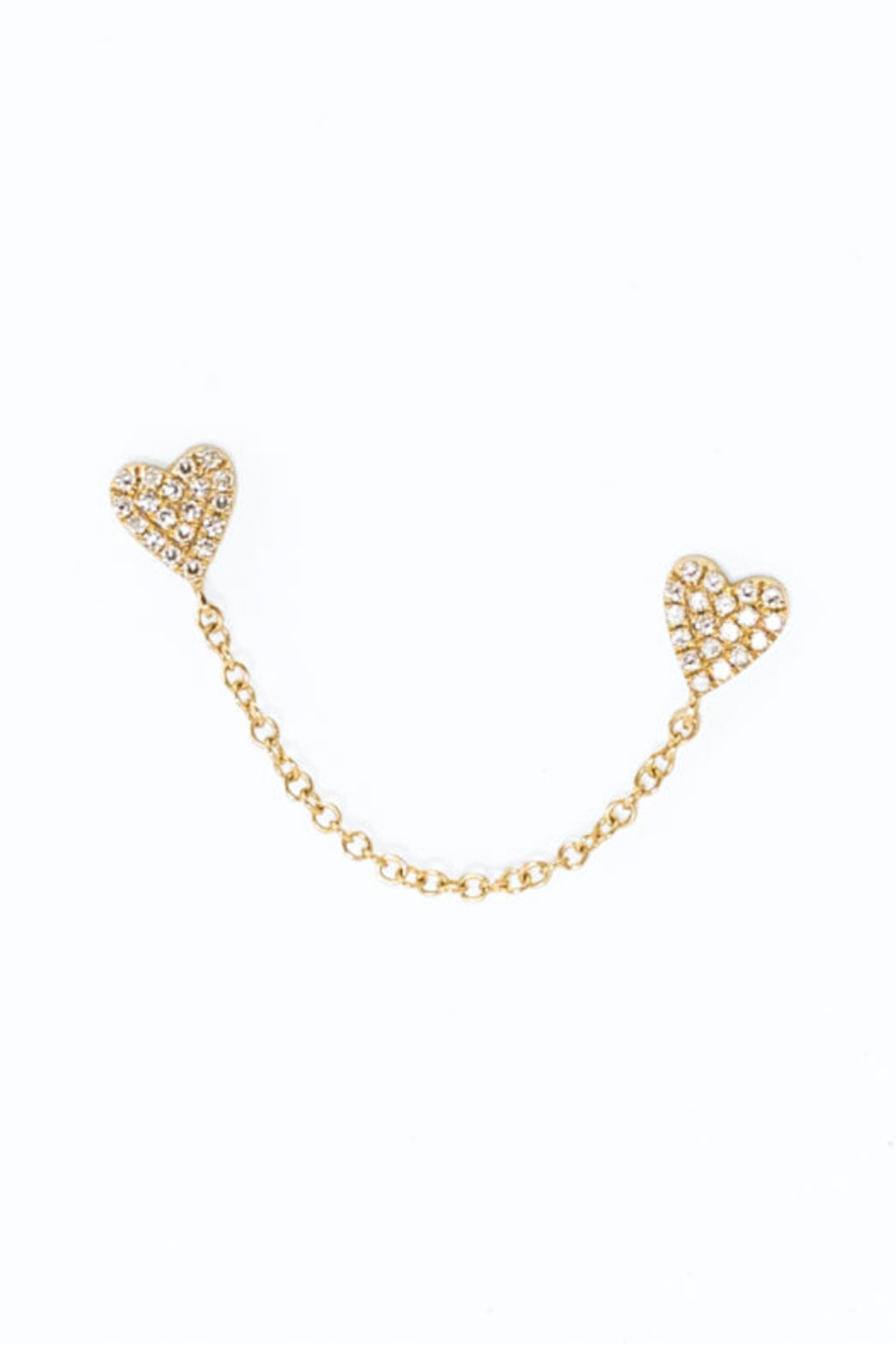 Pade Vavra 14k Yellow Gold Chain Of Hearts Studs