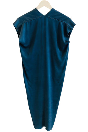 Miranda Bennett Everyday Dress in Indigo Silk Charmeuse- Petite