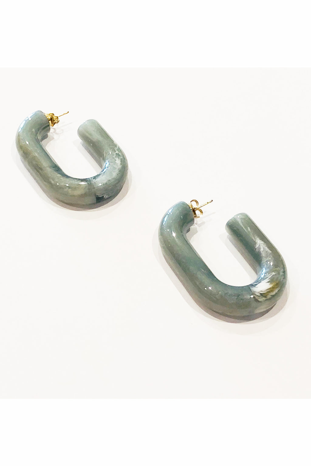 Rachel Comey Small Keeper Earrings in Turquoise Marble
