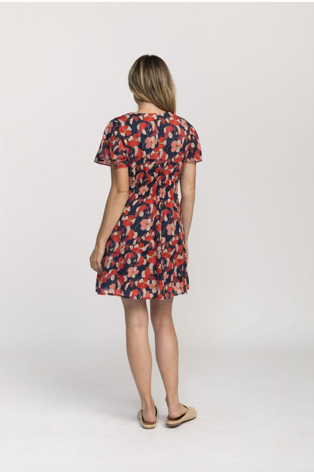 Trovato Sistine Cotton Dress In Navy Floral