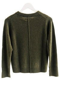 Not Shy Fuentes Cashmere Army Green Sweater