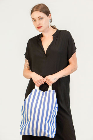 Baggu Duck Bag in Summer Navy and White Stripe