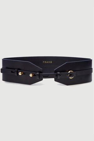 Frame Waist Belt In Noir