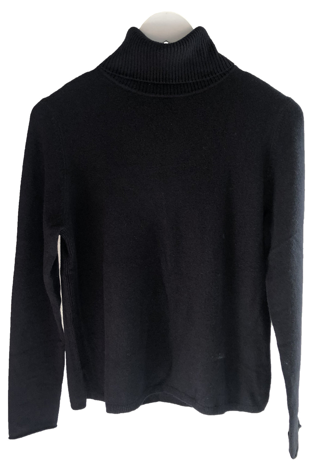 Not Shy Cashmere Turtleneck Sweater in Black