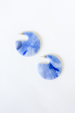 Rachel Comey Camille Earrings in Blue Marble